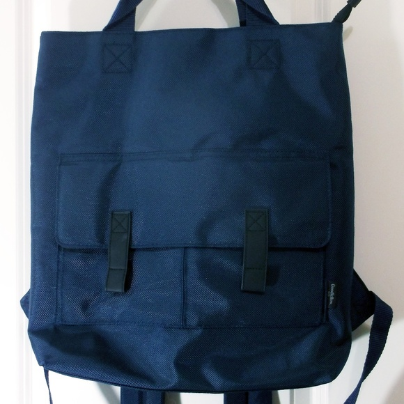 Goodfellow /& Co Navy 3 In 1 Briefcase Backpack